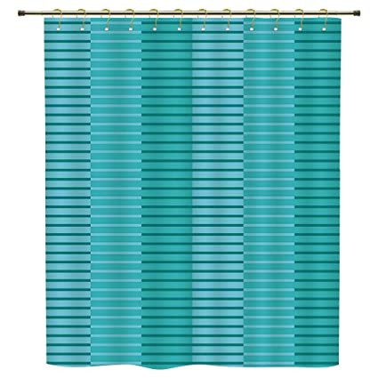 Shower CurtainAbstract DecorAbstract Stripes Pattern Digital Image In Different StyleLight