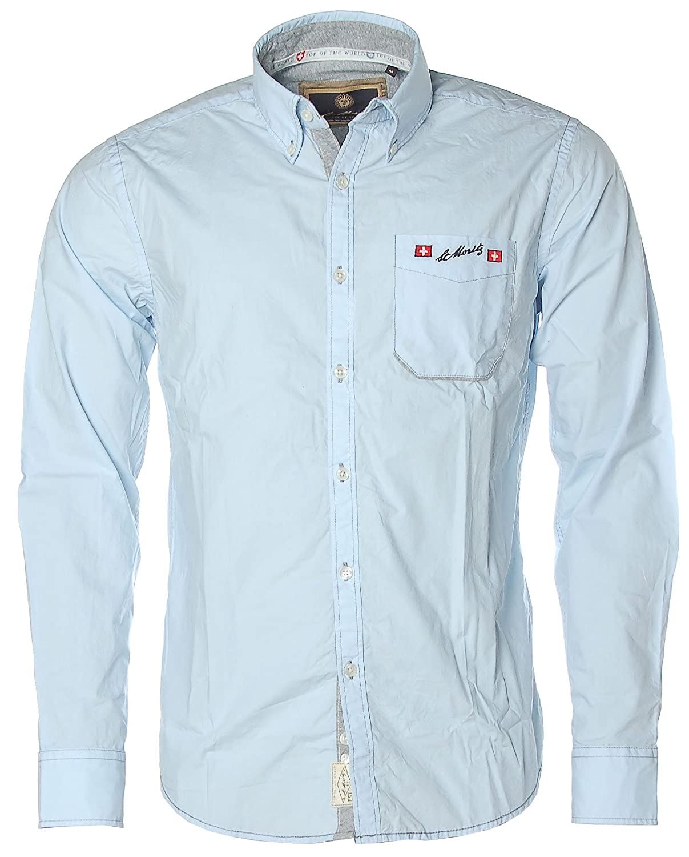 ST. MORITZ Herren Langarm Hemd Shirt Button-Down Alpine Ski World Cup