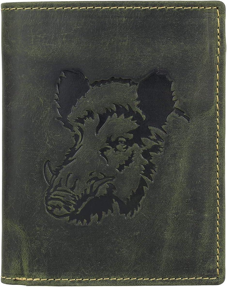 Greenburry 1701-Wild Boar-30 - Monedero, color verde