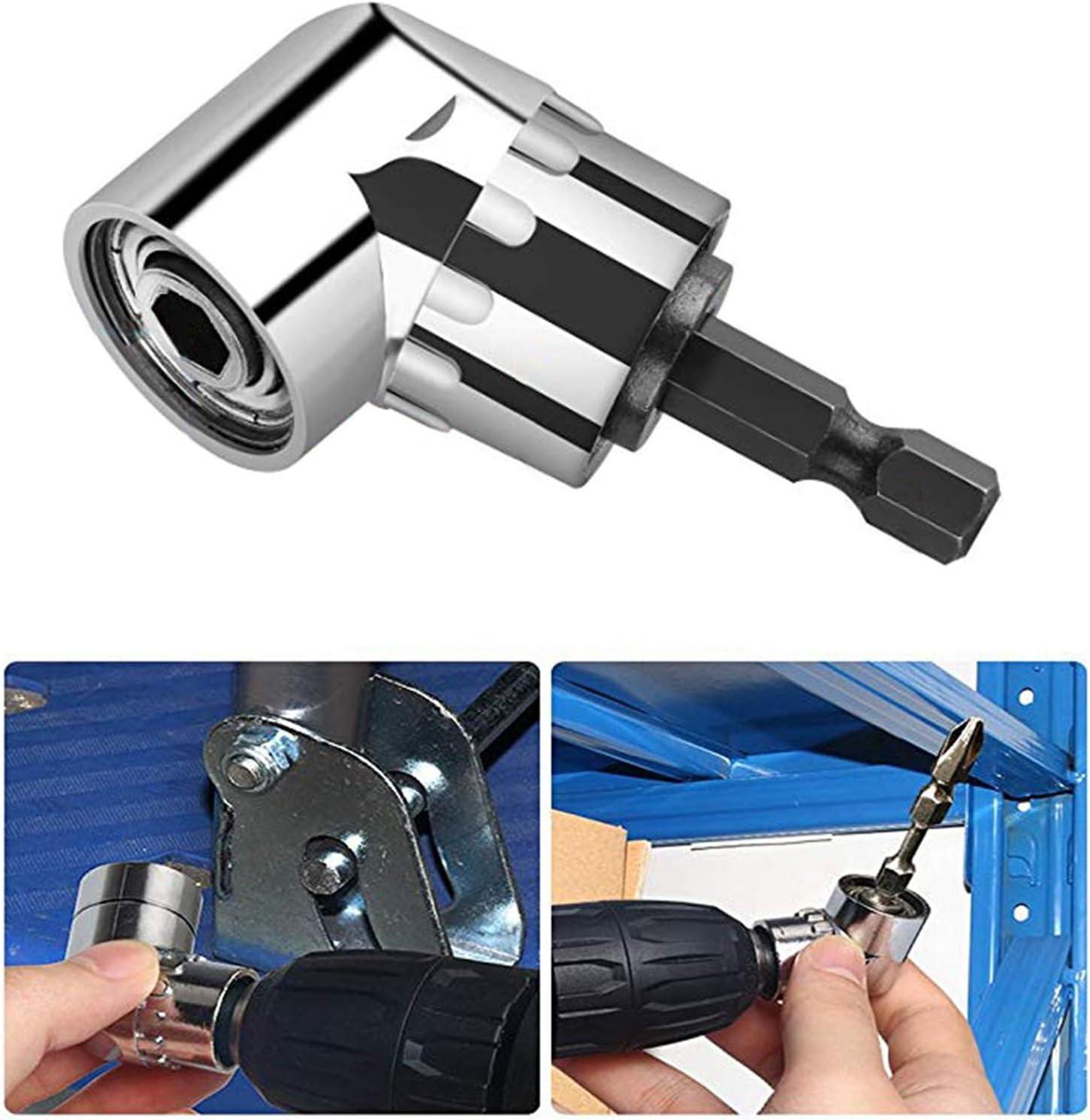 BELIOF Juego de 3 puntas de destornillador de v/ástago hexagonal Portabrocas magn/ético de 60 mm 100 mm 150 mm 1 pcs Adaptador de broca de /ángulo recto 1pcs Extensi/ón de broca flexible para taladro