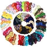 Velvet Elástico Scrunchies de Pelo Hair 46 Pack y Colores para ...