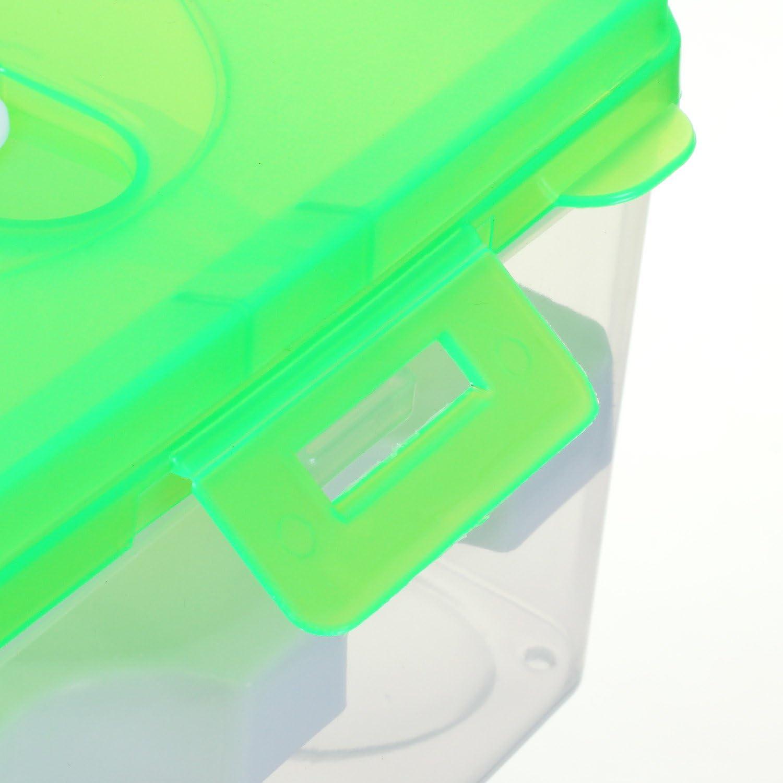 TKD6101-green TUKA Huevera port/átil Doble Capas por 24 huevos Verde grande pl/ástico Higi/énico contenedor para nevera al aire libre organizador almacenamiento de huevos cocina
