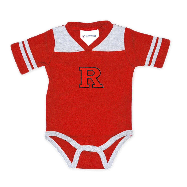 3dbb97646ed Rutgers Scarlet Knights Two Tone Football NCAA College Newborn Infant Baby  Creeper