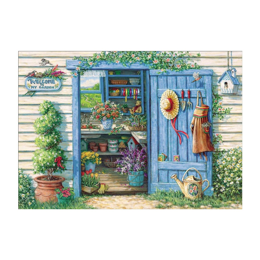 Door 5D Full Diamond Embroidery Painting DIY Painting Cross Stitch Home Decor Milue