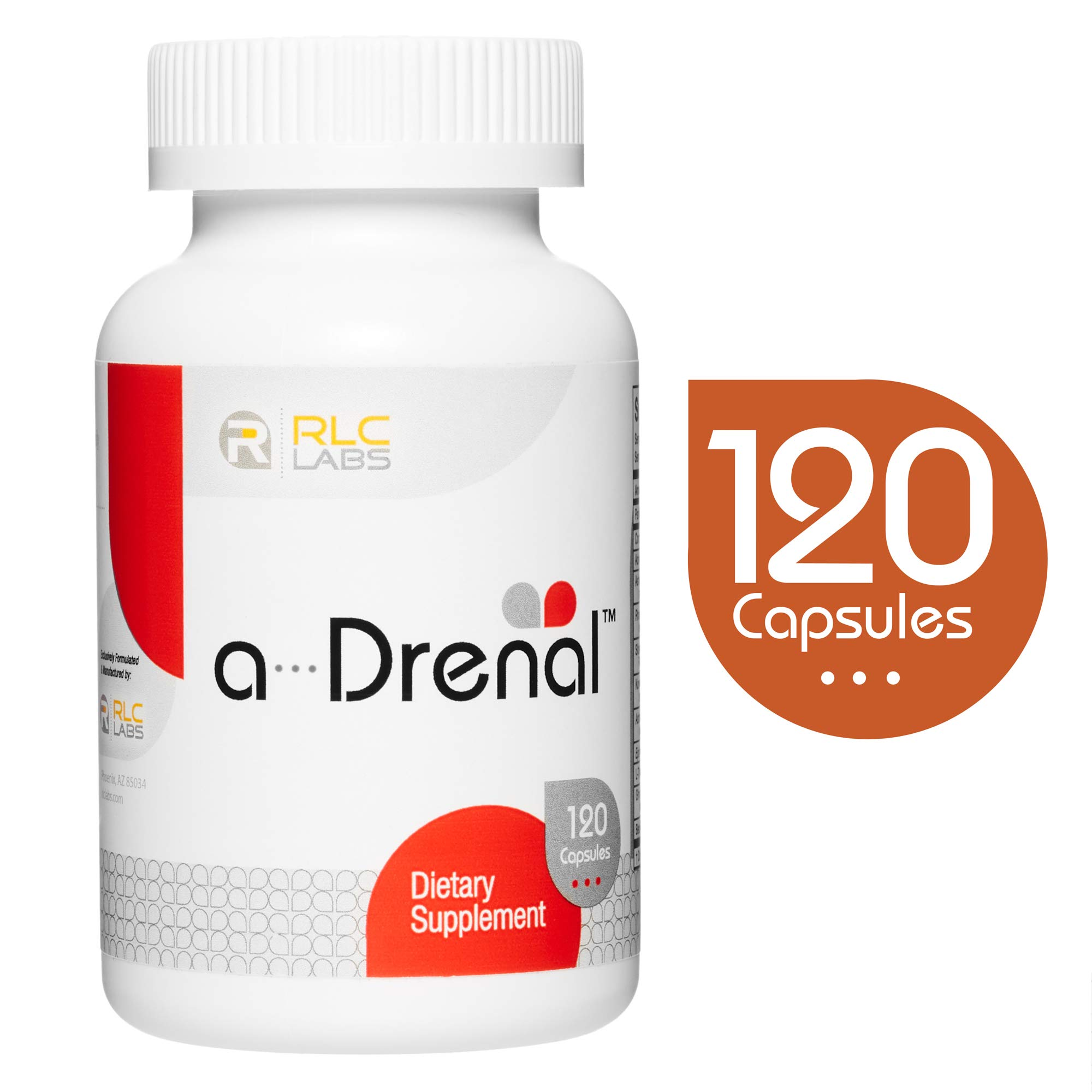 RLC, a-Drenal, Natural Supplement to Support Adrenal Health, Stress Relief and Energy, 120 capsules (30 servings) by RLC Labs