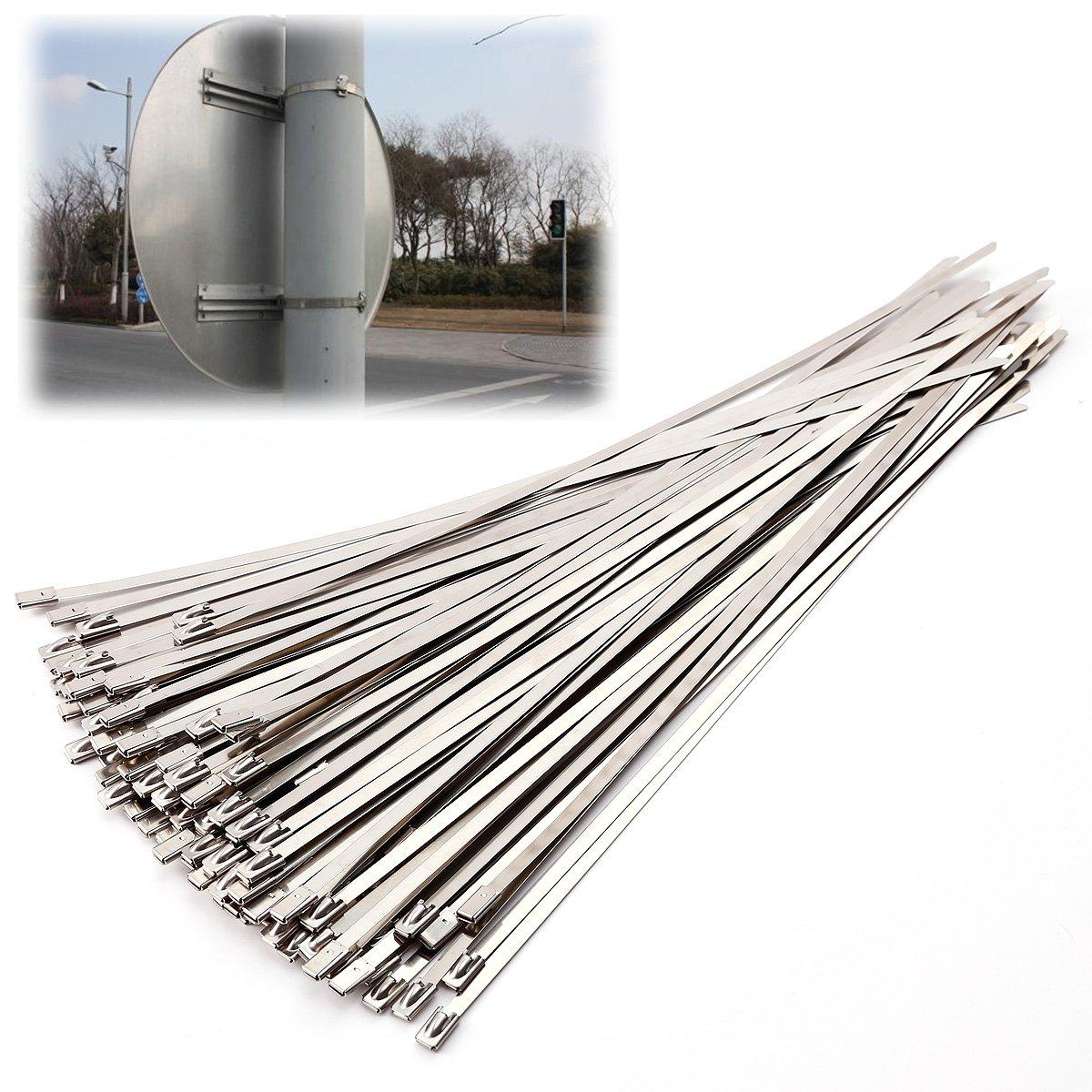 100er 300x4.6mm Edelstahl Kabelbinder Metall Kabelbinder ...