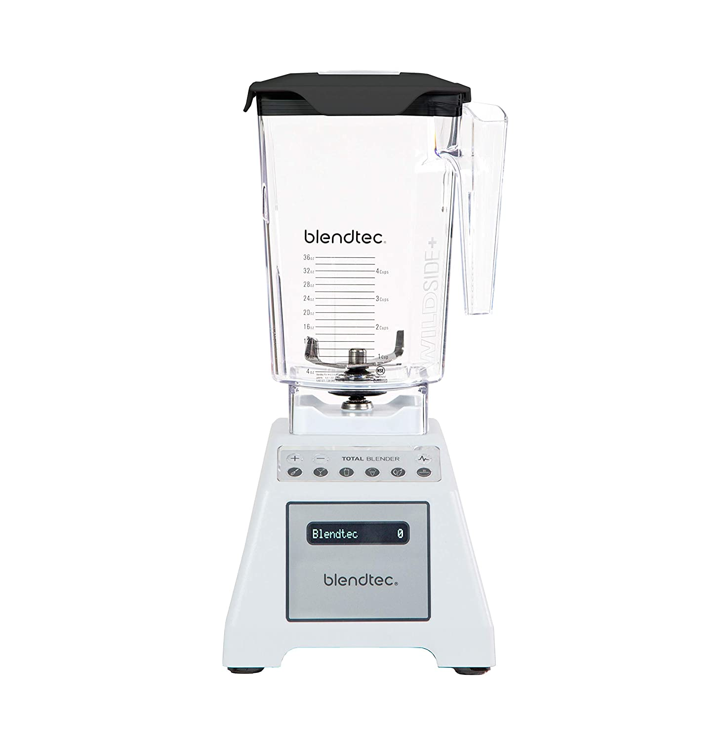 Blendtec Total Classic Original Blender - WildSide+ Jar (90 oz) - Professional-Grade Power - 6 Pre-programmed Cycles - 10-speeds - White