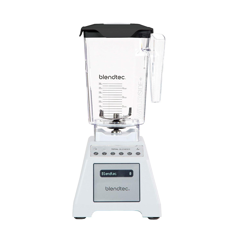 Blendtec Total Classic Original Blender - WildSide+ Jar (90 oz) - Professional-Grade Power - 6 Pre-programmed Cycles - 10-speeds - White