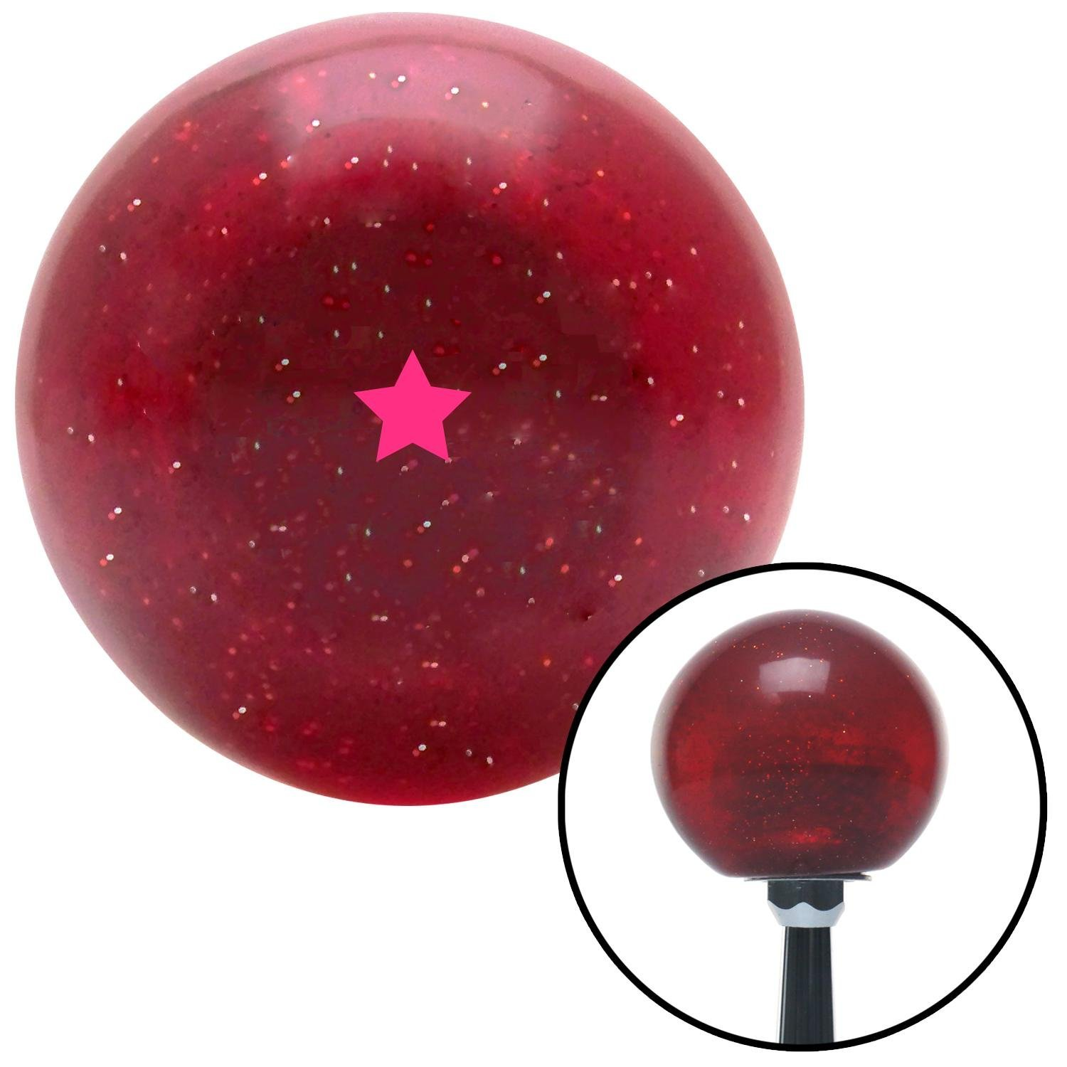 American Shifter 141650 Red Metal Flake Shift Knob with M16 x 1.5 Insert Pink Dragon Ball Z - 1 Star