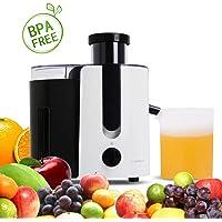 Aigostar Grape 30JDA – Licuadora para frutas y verduras, 400 W, motor de dos velocidades, jarra de 500 ml, cuchillas y filtro de acero inoxidable de tipo 304. Libre de BPA. Diseño exclusivo.