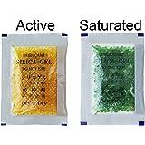 "[27 Packs] 10 Gram Orange ""Dry & Dry"" Premium Indicating(Orange to Dark Green) Silica Gel Packets - RECHARGEABLE"