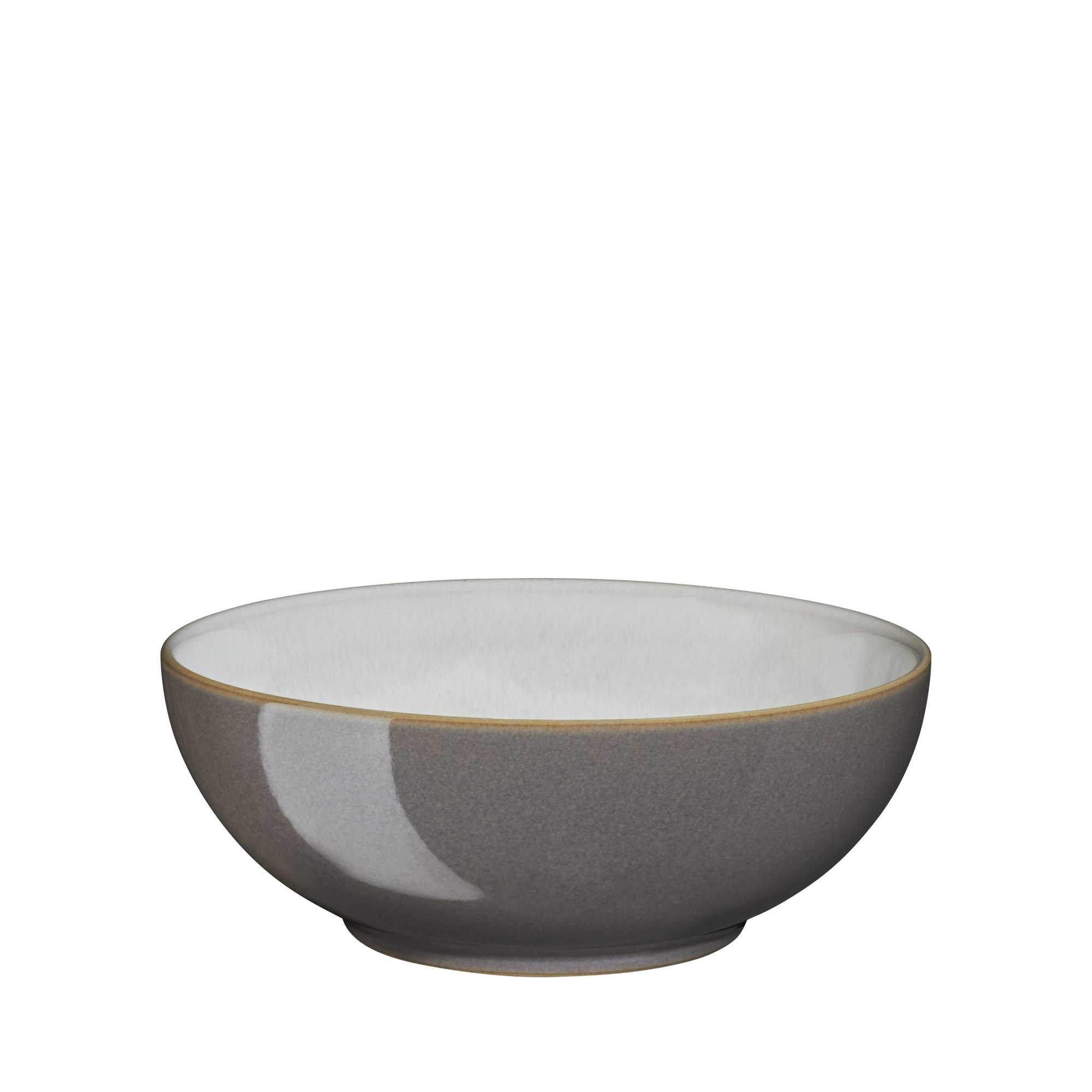 Denby USA Blends Truffle/Canvas Cereal Bowl, Brown/Cream