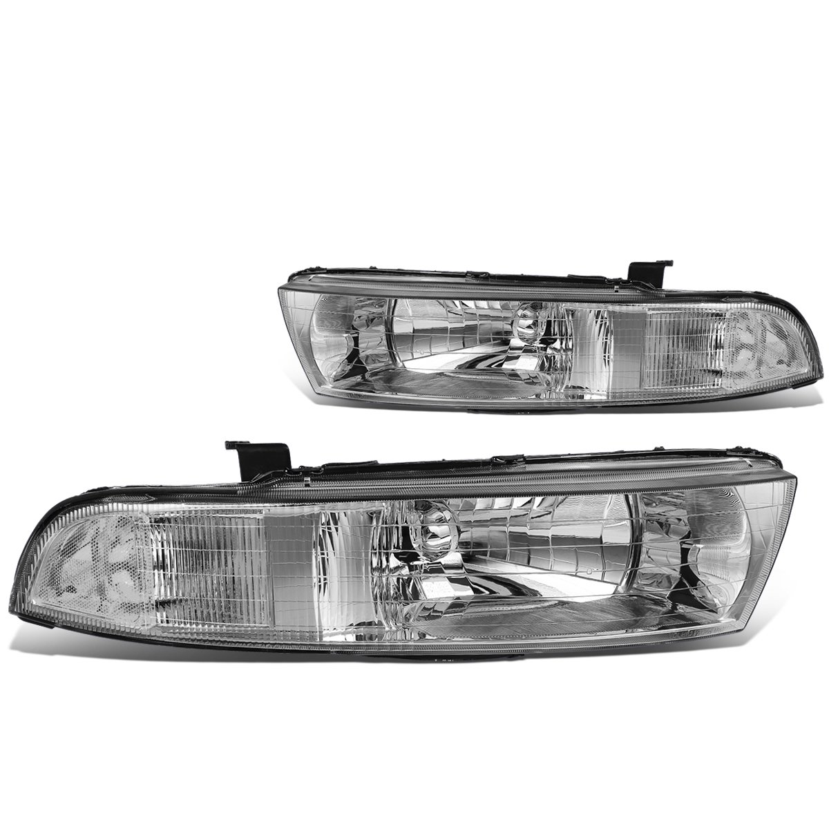 For 99-03 Mitsubishi Galant DNA Motoring HL-OH-068-CH-CL1 Chrome Housing Headlights