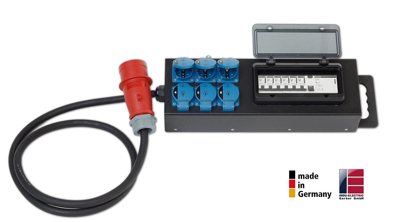 mobile Stagebox Steckdosen Kleinverteiler - Starkstrom Verteiler MCB/RCD