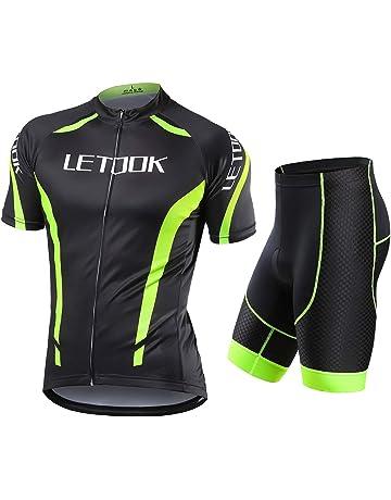 Camicia Da Uomo Ciclismo Bicicletta Senza Maniche Sport Bicicletta Jersey-HI-VIZ//Nero