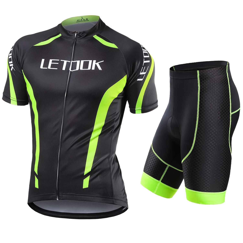e770d53fd704 Letook Maillots Ciclismo Hombre Conjunto de Ropa Verano Bicicleta Manga  Corta +Pantalones Cortos product image