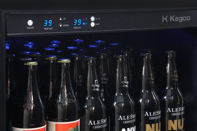 "Kegco VSCB-24SSRN 24"" Wide Undercounter Craft Beer Center Bomber Refrigerator"