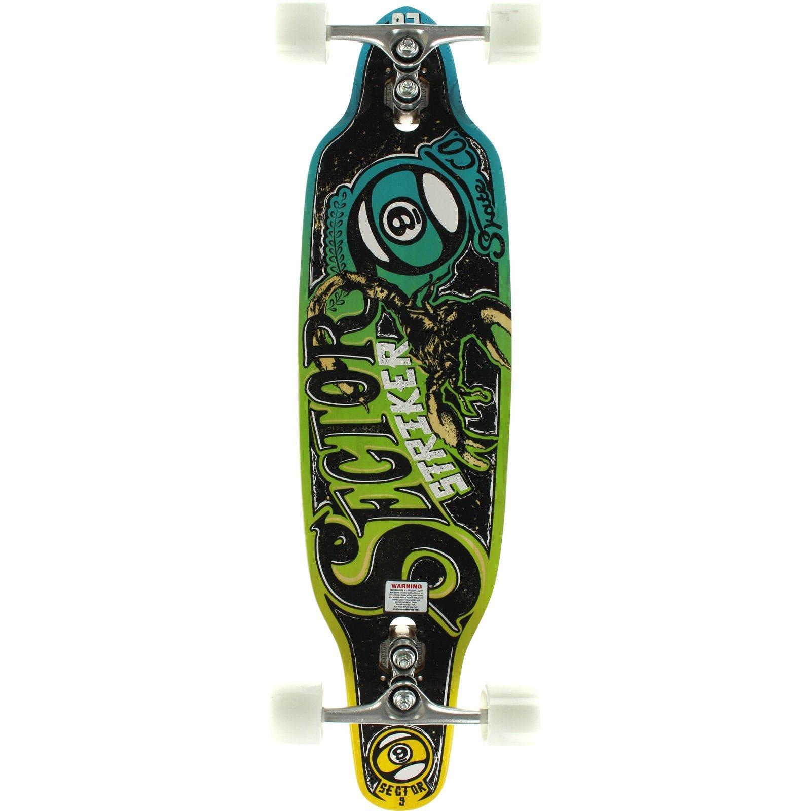 Sector 9 Striker III Blue 9.5x36.5 Sidewinder Complete Longboard Skateboard by Sector 9