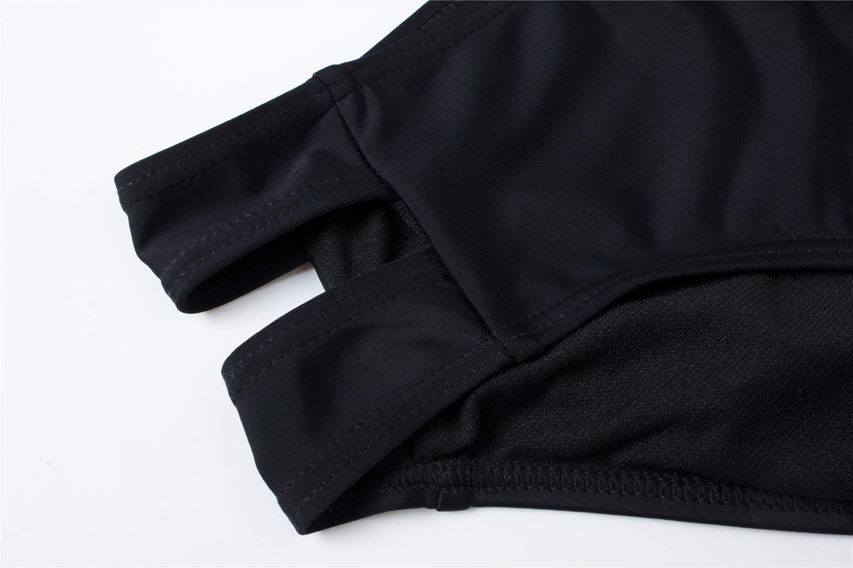 HAIVIDO Women's V Neck Swimwear Criss Cross Back Tankini Top with Bikini Bottom Bathing Suits for Women by HAIVIDO (Image #7)