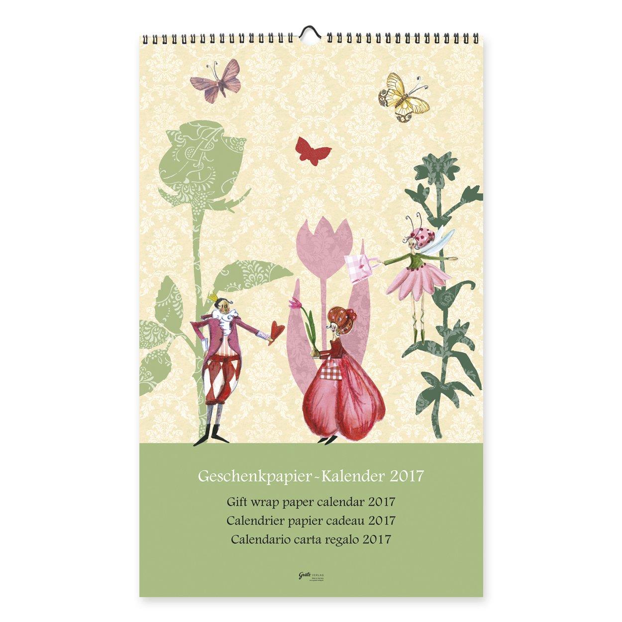 Geschenkpapier-Kalender 2017