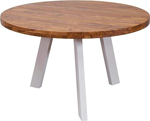 Esstisch rund massiv | Massivholz Esszimmertisch rund