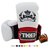 Top King Muay Thai Boxing Gloves Size: 8 10 12 14 16 oz Color: Black White Red Green Blue Pink Yellow Gold Silver…