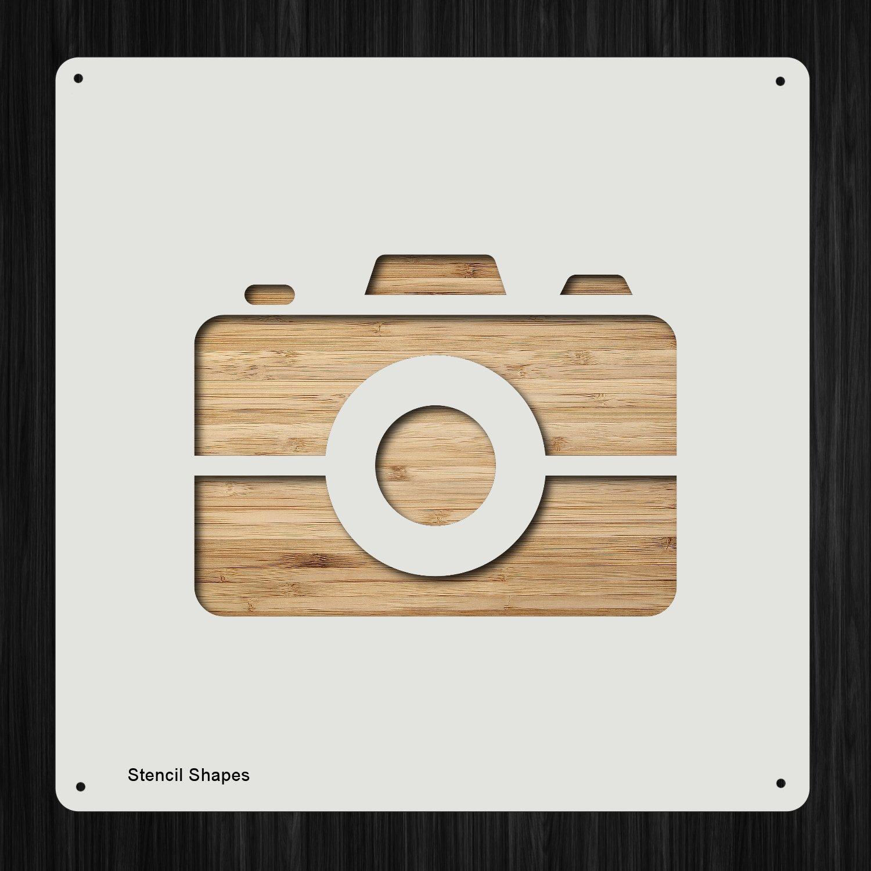 カメラ デジタル オプション メディアフラッシュ プラスチック マイラー ステンシル 塗装 壁 工芸用 アイテム 199099   B07DH2BN9J