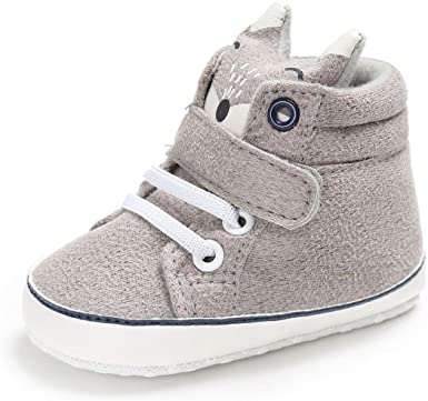 KONFA Toddler Newborn Baby Boys Girls Round Toe Flats Prewalker Boots,for 3-12 Months,Premium Flock Shoes