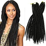 Locks Dread Serrure Dread Crochet tutoriel tresse cheveux doux Dread Serrure 45,7 cm Janet Collection Havana Mambo Dread tresse 1 100 g & # nitrure ; couleur 1B & # enduit ;