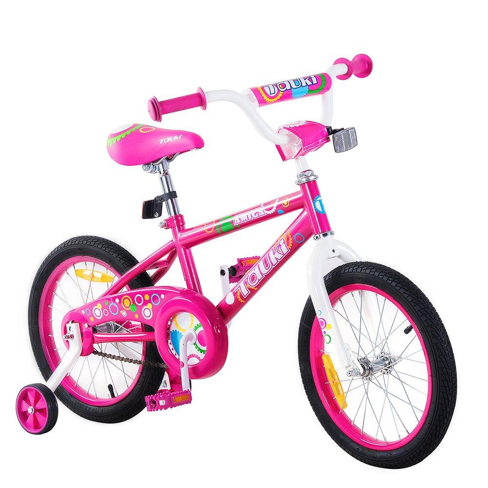 Tauki 12インチ16インチ子供自転車BMXフリースタイルボーイズ、ガールズ、95 %組み立てられ、2 – 5歳の古い B073PR31R7ピンク 12inch