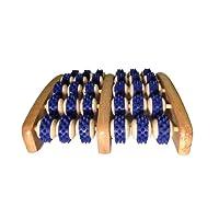Fussmassageroller aus Holz - Reflexzonen Fussmassagegerät - RELAX NEXT, Zweifuß Holz Massage-Roller - auch als Geschenk