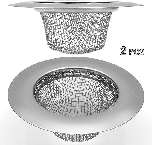 2.75 Kitchen Sink Strainer Basket Stainless Steel Bathroom Drain Filter For Hair