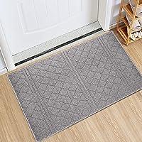 Indoor Doormat Absorbent Mats Latex Backing Non Slip Door Mat for Front Door Inside Floor Mud Dirt Trapper Mats Entrance…