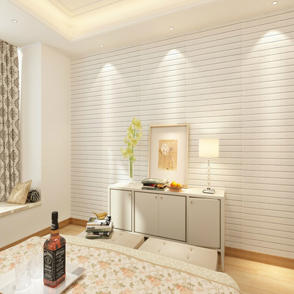 Elegant Buy Magideal 60*60cm White 3D Brick Wall Sticker Self Adhesive Panel Decal  Wallpaper #1 Online At Low Prices In India   Amazon.in