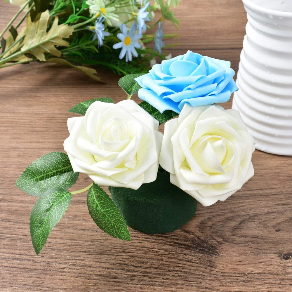 Wedding Aisle Flowers Party Decoration 12 Pcs HAIOPS Floral Foam Flower Arrangement Kit Green Round Wet Floral Foam for Table Centerpiece