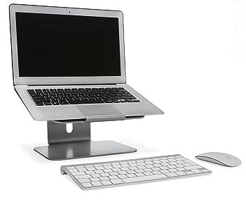 Bramley Power - Soporte de escritorio para computadora portátil de altura ajustable de aluminio sólido para