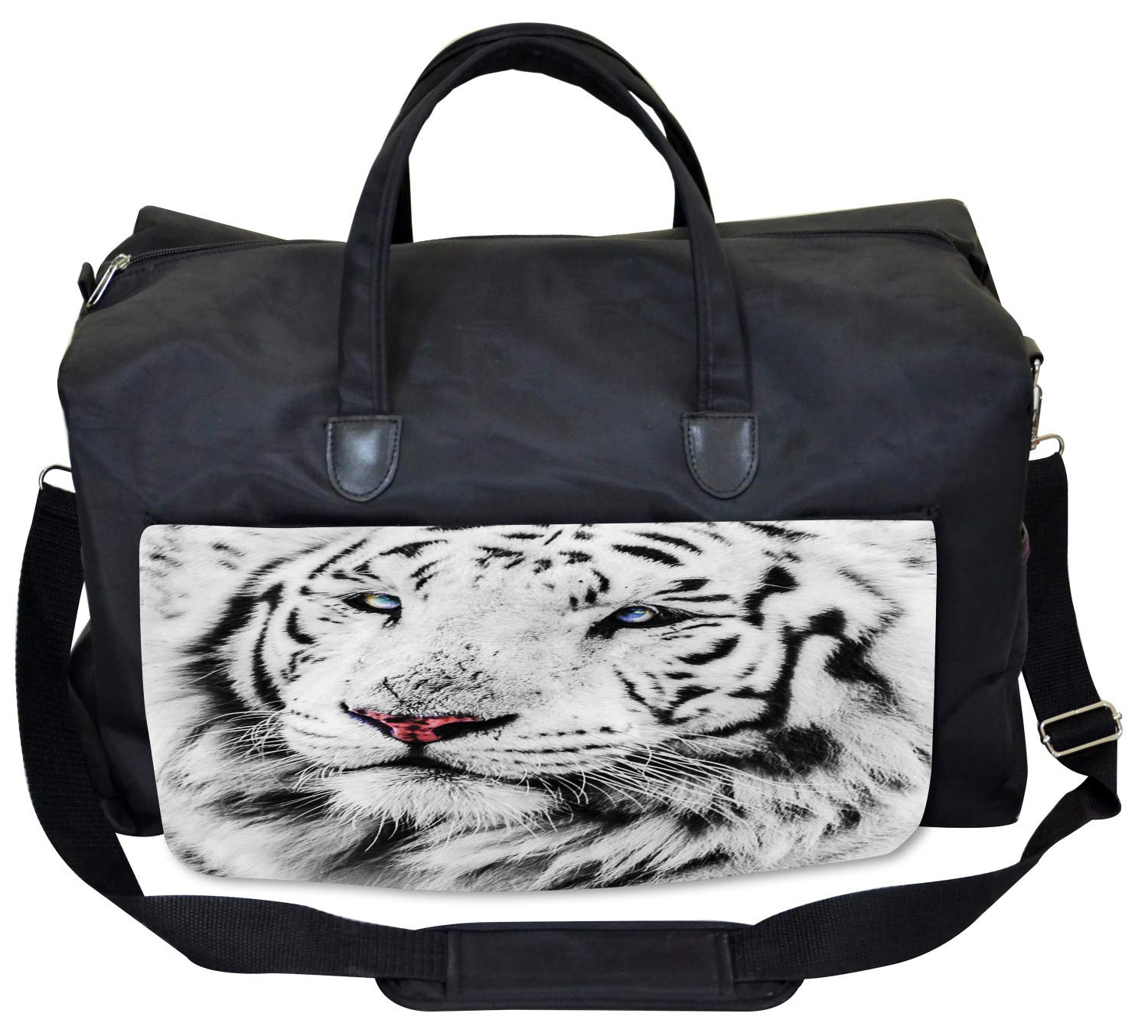 Black and White Tiger Gym Bag