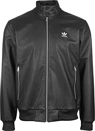 7e4d0d084c05 Adidas Mens CT CH Faux Leather Jacket in Black G92559 Sizes Small ...