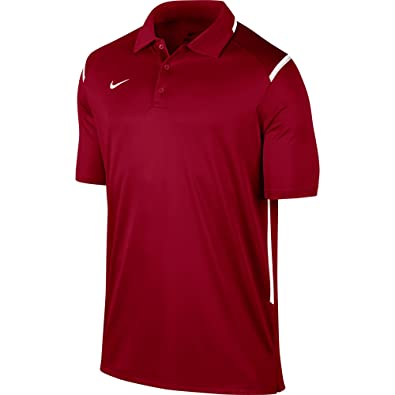 9460d3af8 Amazon.com: NIKE 706710-612 : Men's Team Gameday Polo Shirt Cardinal/White:  Shoes