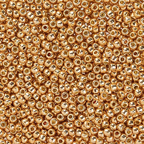Toho Seed Beads Round Size 11/0, 17 Grams, Two 2.5
