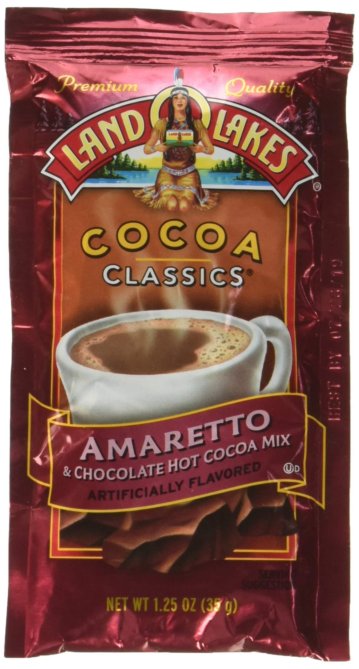 Land O Lakes, Cocoa Mix Classic Amaretto, 1.25-Ounce (12 Pack)