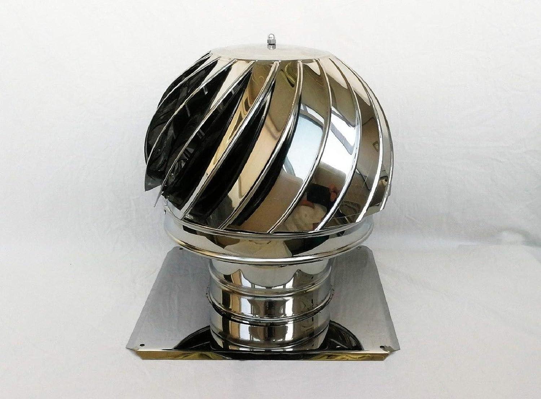 200mm 42cmx42cm Schornsteinaufsatz drehbar Kaminaufsatz Schornstein Kugel Windrad Kaminhaube