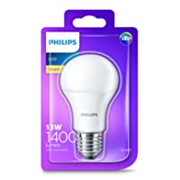 Philips LED Light Bulb (E27 Edison Screw 13.0W A60) - Warm White
