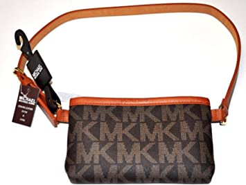 Michael Kors MK Signature Belt Wallet Fanny Pack,Travel Leather Medium: Amazon.es: Deportes y aire libre
