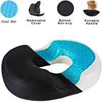 Gluckluz Donut Pillow Gel Seat Cushion Coccyx Pad for Office Chair Car Men Women Outdoor Indoor Home Bedroom Wheelchair Airplane