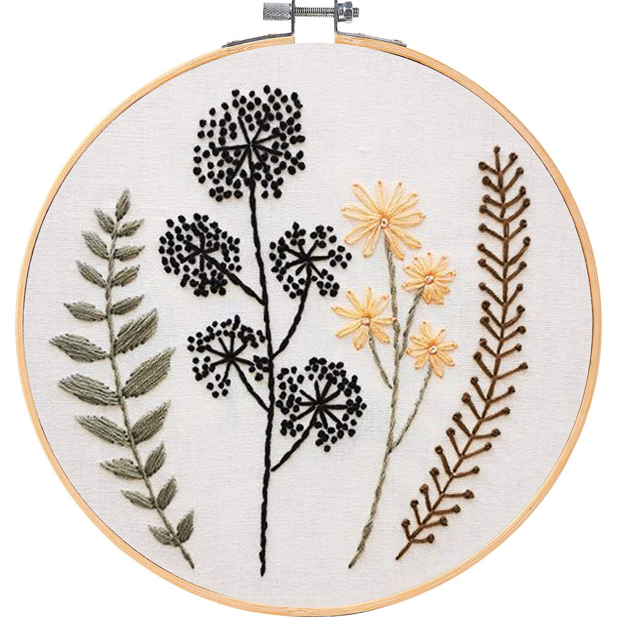 MEIAN Embroidery Kit for Adults Beginners with Flower Stamped Cross Stitch Starter
