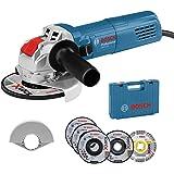 Bosch Professional Amoladora Angular GWX 750-125 (disco Ø 125 mm, incl. juego de discos de corte y de amolado de 5…