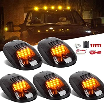 Amazon.com: 5PCS Amber Cab Roof Running Top Marker Lights 12 LED Smoke  Clearance Lamp Assembly Wire Harness Replacement for Dodge Ram 1500 2500  3500 4500 5500 2003-2018 Pickup Trucks: AutomotiveAmazon.com