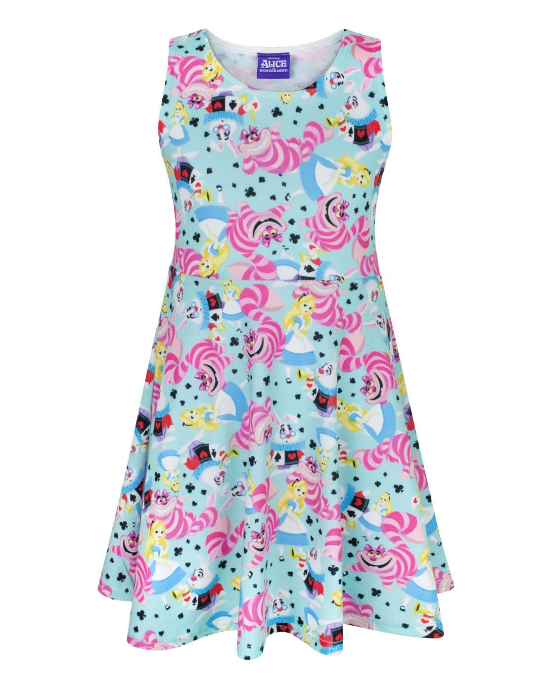 Disney Alice In Wonderland Girls Skater Dress (9-10 Years)