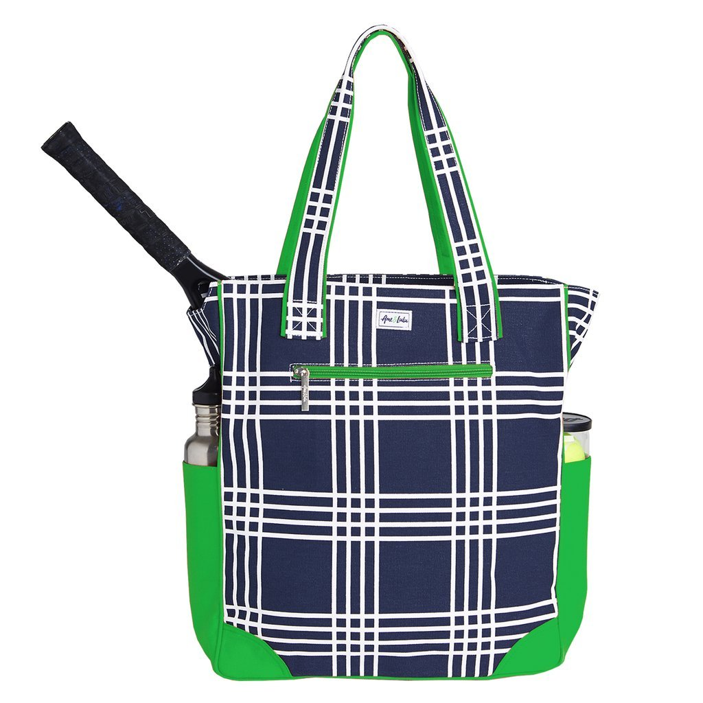 Ame & Lulu Parker Plaid Emerson Tennis Tote